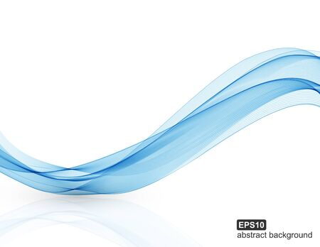Fond de vecteur bleu abstrait vagues.