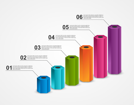 Abstract options infographics template. Infographics for business presentations or information banner. Illustration