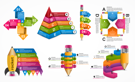 Collection Infographics template. Infographics for business presentations or information banner.