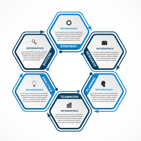 Abstract options infographics template. Infographics for business presentations or information banner. Çizim