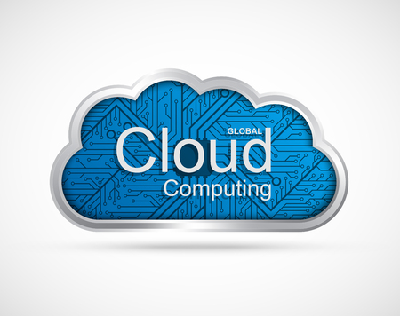 electronic background: Cloud computing concept design. Illustration