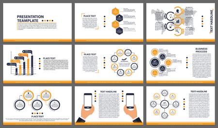 Business presentation templates vector set Illustration
