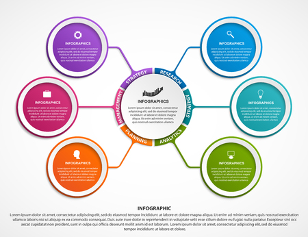 Infographic design organization chart template for business presentations vector