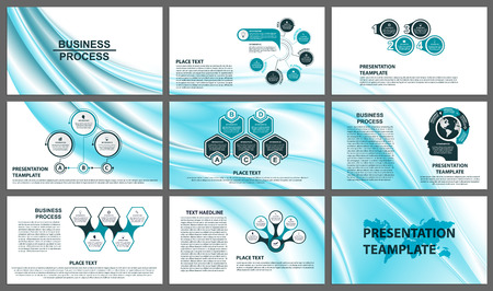 Business presentation templates. Modern elements of info graphic.
