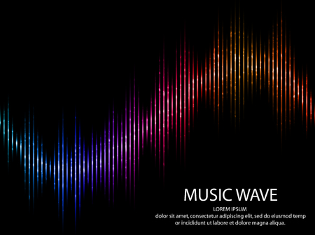 Abstract light futuristic background. Sound waves. Music Digital Equalizer. Vector illustration. Vectores