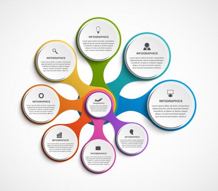Modèle d'infographie d'options abstraites. Infographie pour des présentations commerciales ou une bannière d'information.