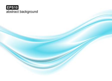 Fondo abstracto de ondas azules. Diseño vectorial para pancartas, presentaciones, folletos, invitaciones. Ilustración de vector