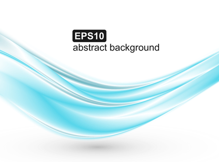 Abstrakter blauer Wellenhintergrund. Vektordesign für Banner, Präsentationen, Flyer, Einladungen.