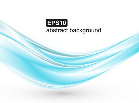 Fondo abstracto de ondas azules. Diseño vectorial para pancartas, presentaciones, folletos, invitaciones.