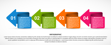 Infographics template with arrows. Infographics for business presentations or information banner.