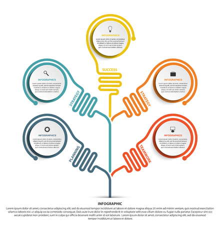 Abstract options infographics template. Infographics for business presentations or information banner.  イラスト・ベクター素材
