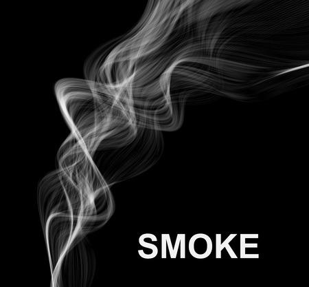 Fond de fumée de vecteur.
