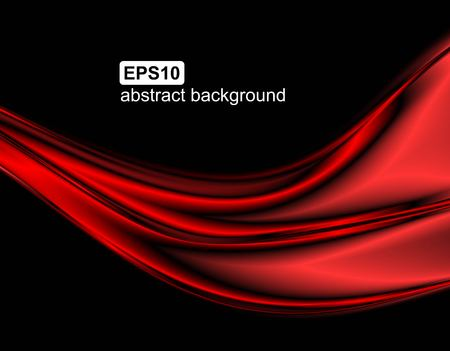 Vector abstract red wave background Illustration