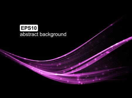 Abstract light wave futuristic background. Vector illustration. Stock Vector - 129394218