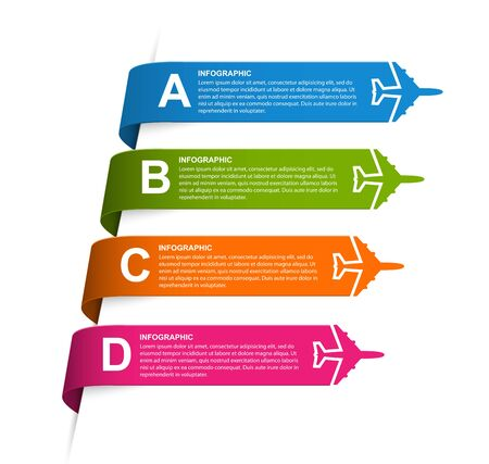 Infographic for travel and airplane brochure brochures.