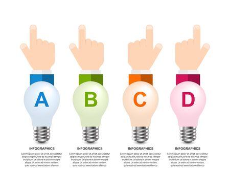 Infographics for business presentations or information booklet. Vector illustration.