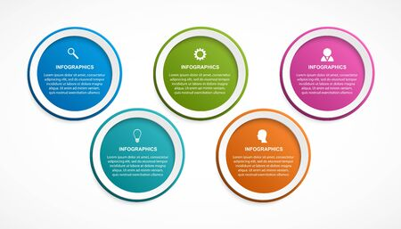 Abstract options infographics template. Infographics for business presentations or information banner. Stock Illustratie