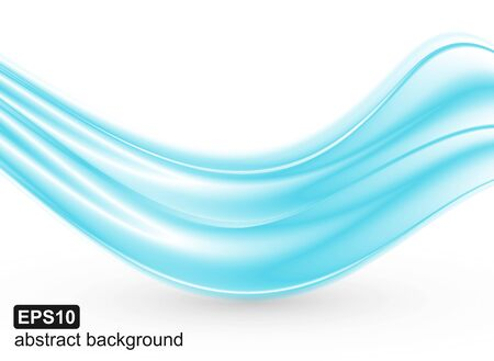 Abstract blue waves background. Vector illustration.