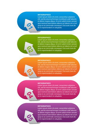 Infographics template for business presentations or information banner.