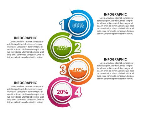 Infographics template with numbers option. Infographics for business presentations or information banner.