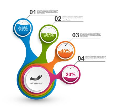 Infographics for business presentations or information banner.