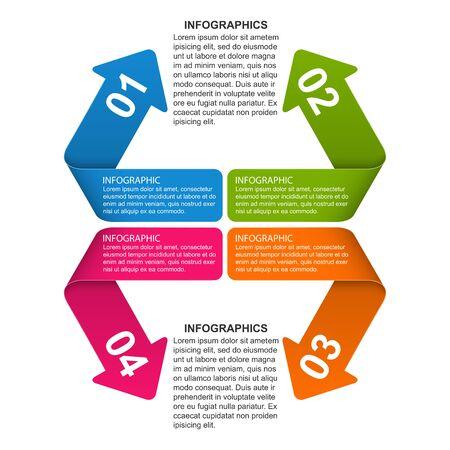 Options infographic, timeline, design template for business presentations or information banner. Stock Illustratie
