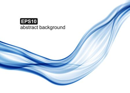 Abstract background. Blue waves on white background for presentation, website, flyers, brochures.