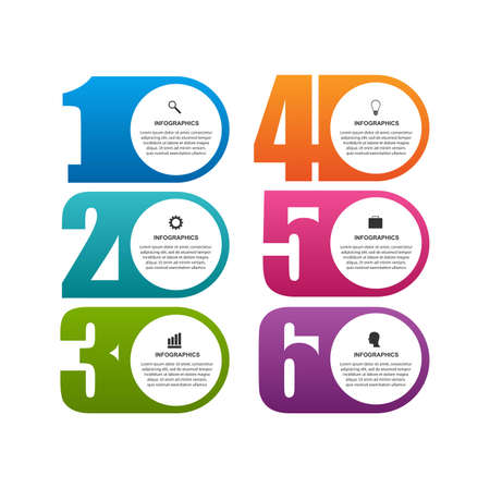 Numeric infographic template. Infographics for business presentations or information banner.