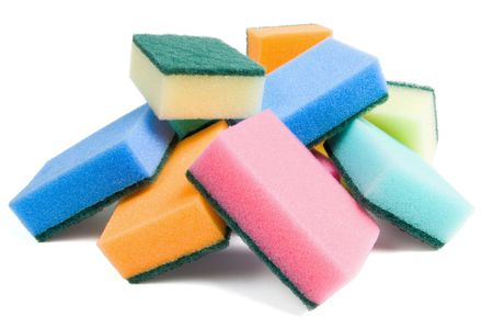 Some multicolored kitchen sponges for washing dishes Stock Photo - 3181624