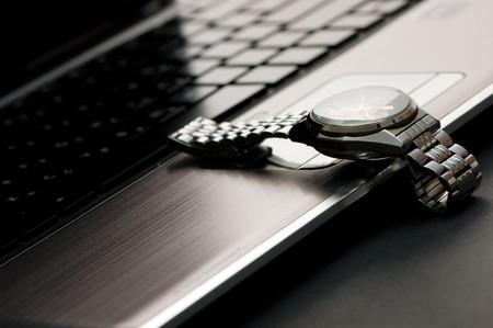 cronografo: Cron�grafo en un teclado de port�til