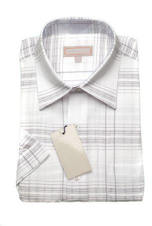 WHite striped mans shirt, close-up photo