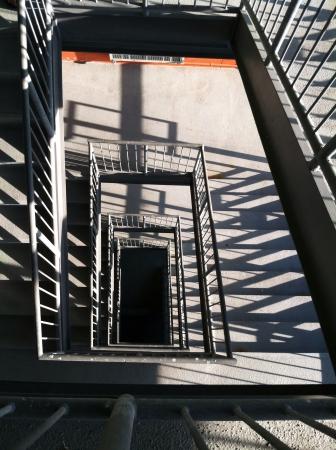 stairwell: Stairwell in a parking garage Stock Photo