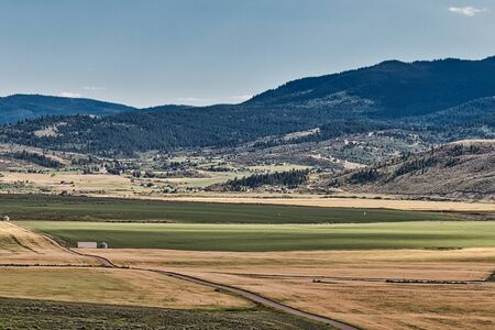 Mountain view of the Bailey Creek neighborhood area of Soda Springs, ID