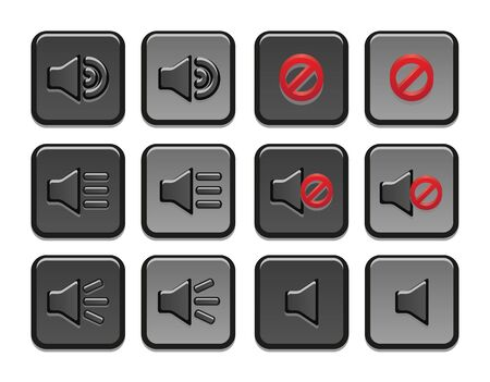 Volume icons set Vector