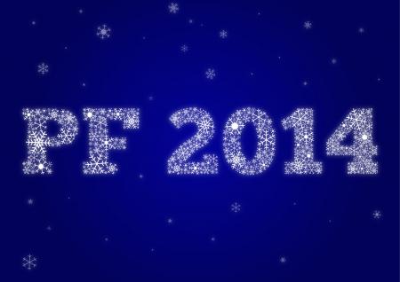 雪の結晶から作られた PF 2014 写真素材 - 21852502