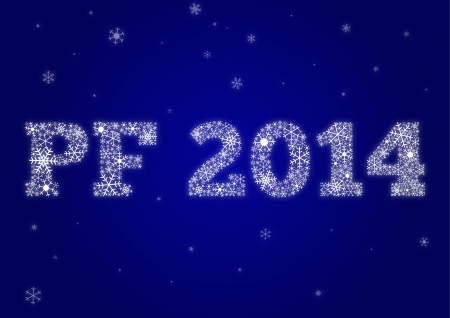 pf: PF 2014 made from snowflakes
