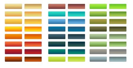 異なる色で 24 のボタンのセット