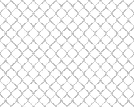 Grey toned wire fence seamless pattern on white Vector