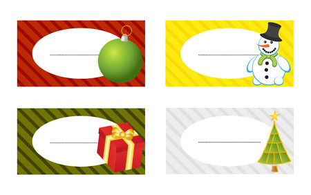 Set of 4 isolated christmas gift tags Stock Vector - 23654923
