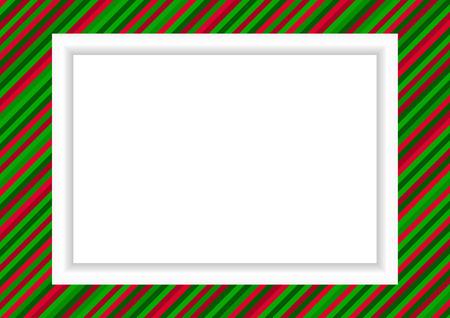 クリスマスの写真やグラフィックのストライプの枠のスタイル