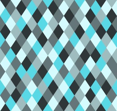 ブルーの 5 色でシームレスな菱形パターン 写真素材 - 24233242