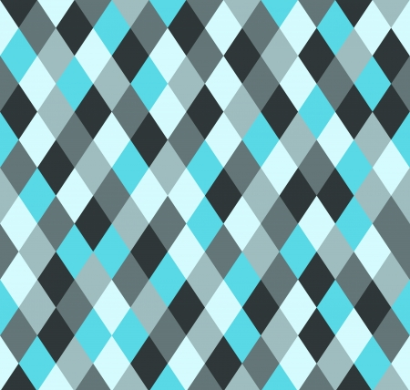 Seamless rhombus pattern in 5 shades of blue