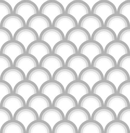 greyscale: Seamless greyscale pattern in shape of fish scale or rainbow