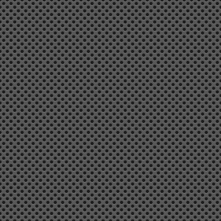 holed: Technology with seamless circle perforated carbon texture Illustration