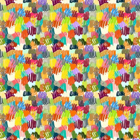 異なる色でシームレスなスクラブル ペン ストローク パターン