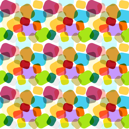 Endless mosaic pattern in rainbow colors with geometric ornaments in candy style Иллюстрация