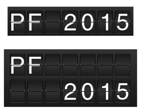 flipboard: Isolated PF 2015 in flipboard  flightboard, solari board  style