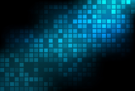 Dark abstract square background with diagonal blue line