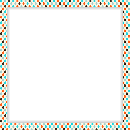 Easter frame with colorful eggs pattern and free space in the center Vector