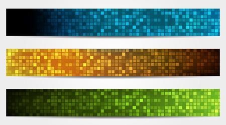 異なる色で 3 つの孤立したバナー ヘッダーのセット 写真素材 - 27334118